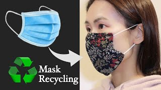 Disposable Mask Recycling To Fabric Face Mask Sewing Tutorial DIY At Home