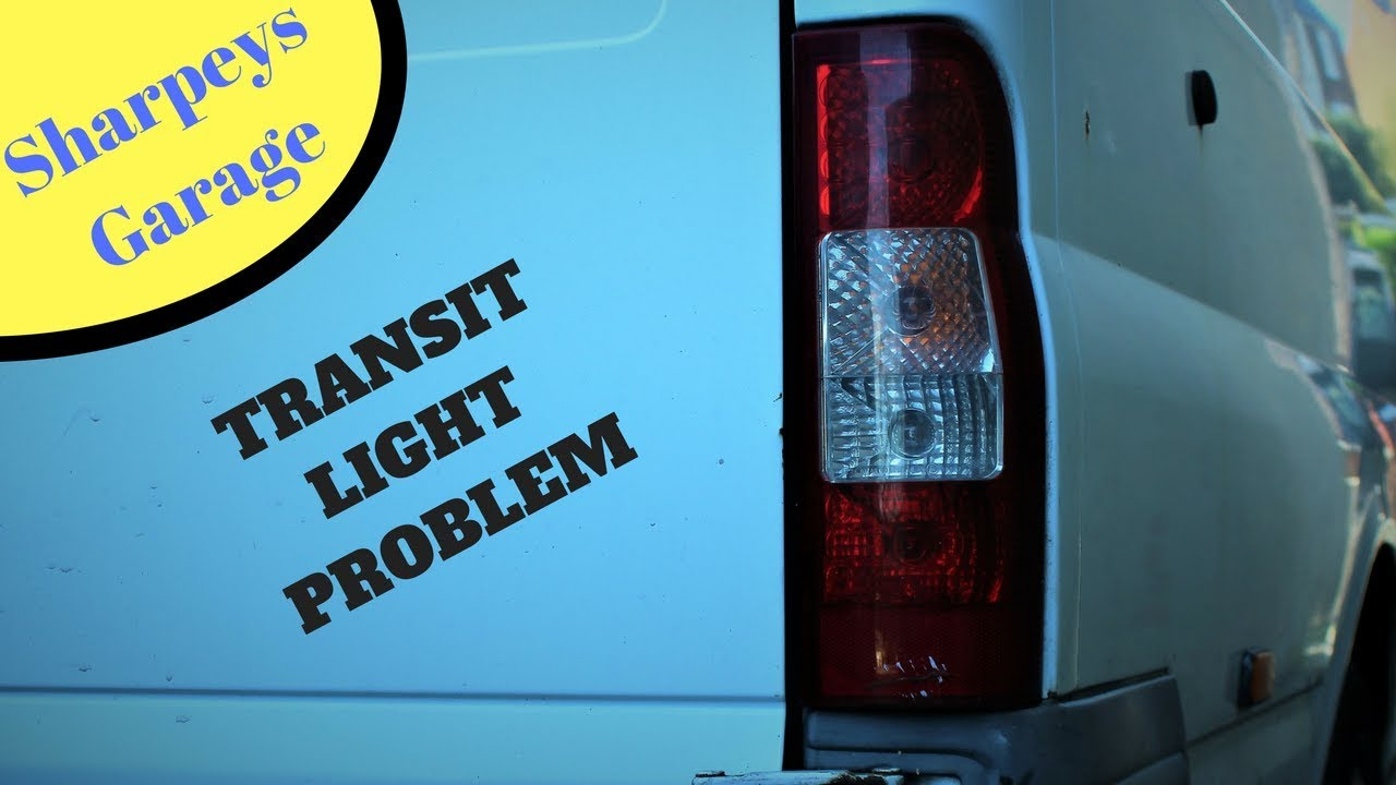 hight resolution of ford transit fault on rear lights