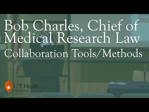 Bob Charles, Chief of Medical Research Law, US Army Medical Command