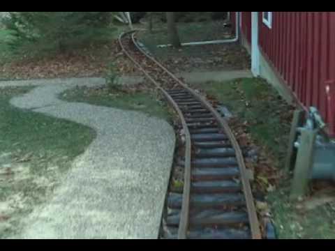 wooden backyard railway part 1 youtube