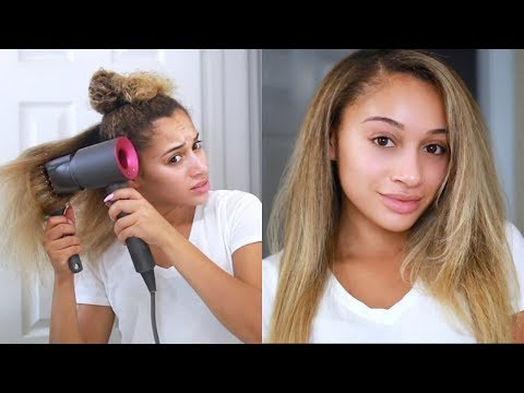 Curly to Straight Hair Tutorial! *Updated* thumbnail