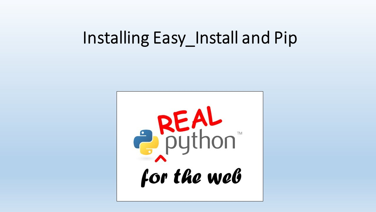 Installing Easy_Install and Pip