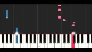 Mura Masa ft Asap Rocky - Lovesick (SLOW EASY PIANO TUTORIAL)
