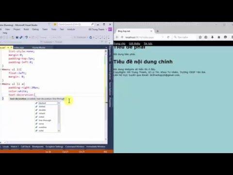 Bài 2. Thiết kế giao diện Website bằng HTML và CSS trên Visual Studio 2015