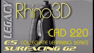 E5 Rhino Tutorial - G2 Surfacing Basics
