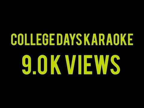 COLLEGE DAYS KARAOKE WITH LYRICS | FULL SONG