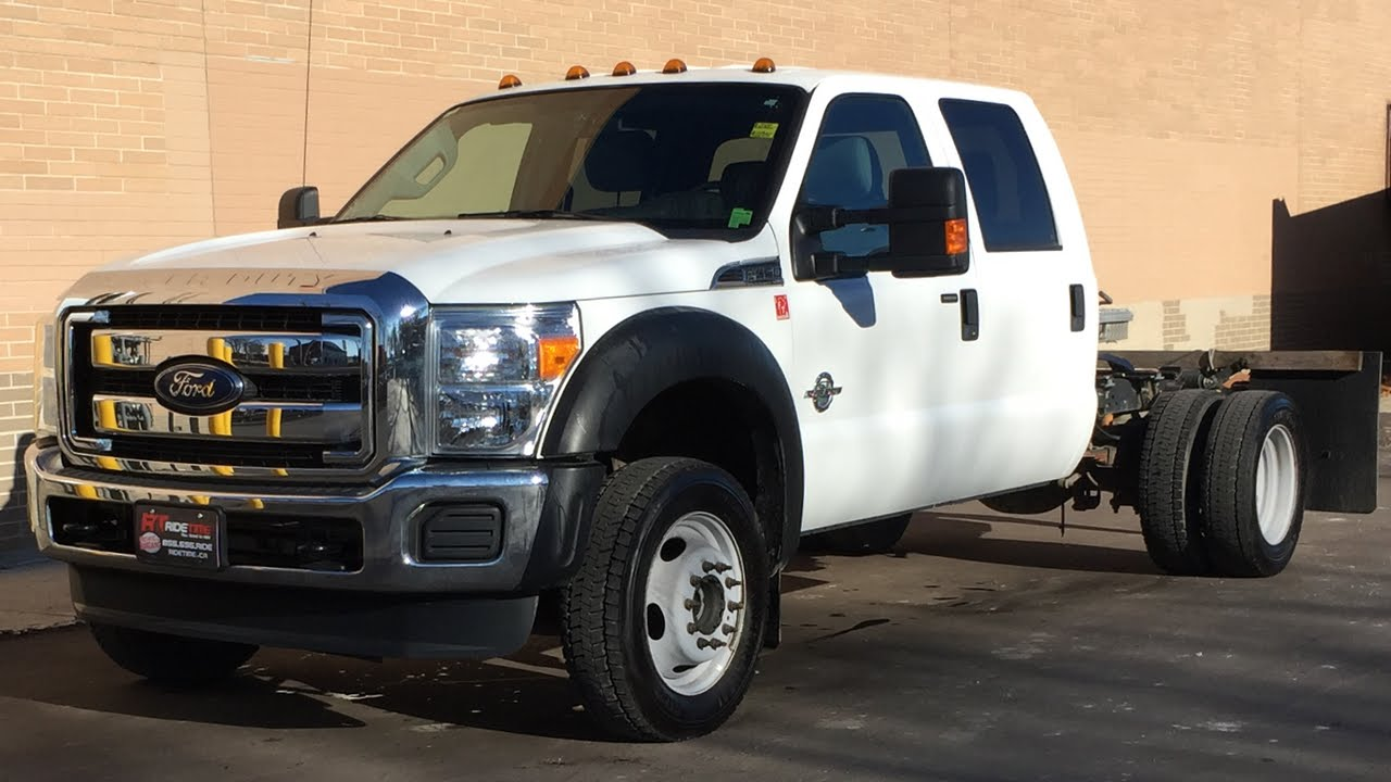2014 Ford Super Duty F-450 DRW XLT 4WD - Crew Cab & Chassis, 6.7L Diesel, Trailer Brake ...