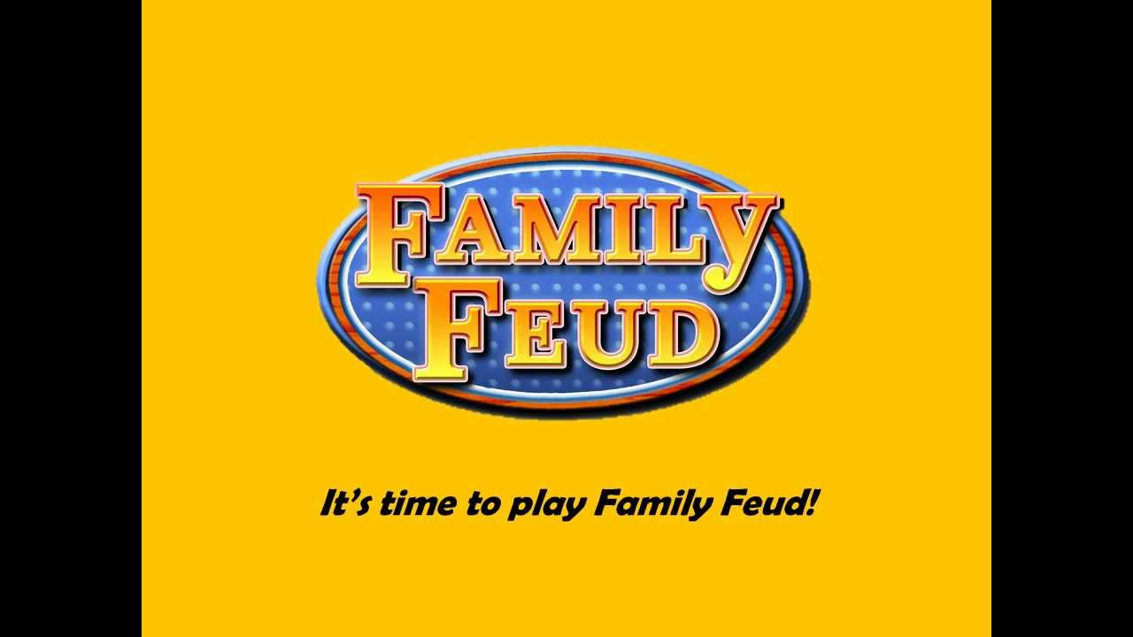 template: family feud - youtube, Modern powerpoint