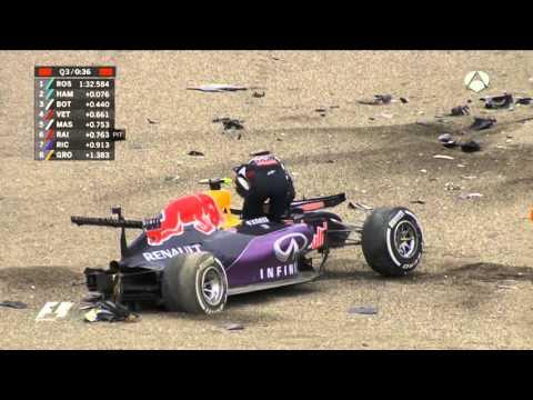 daniil kvyat crash// accidente daniil kvyat español GP Japon 2015