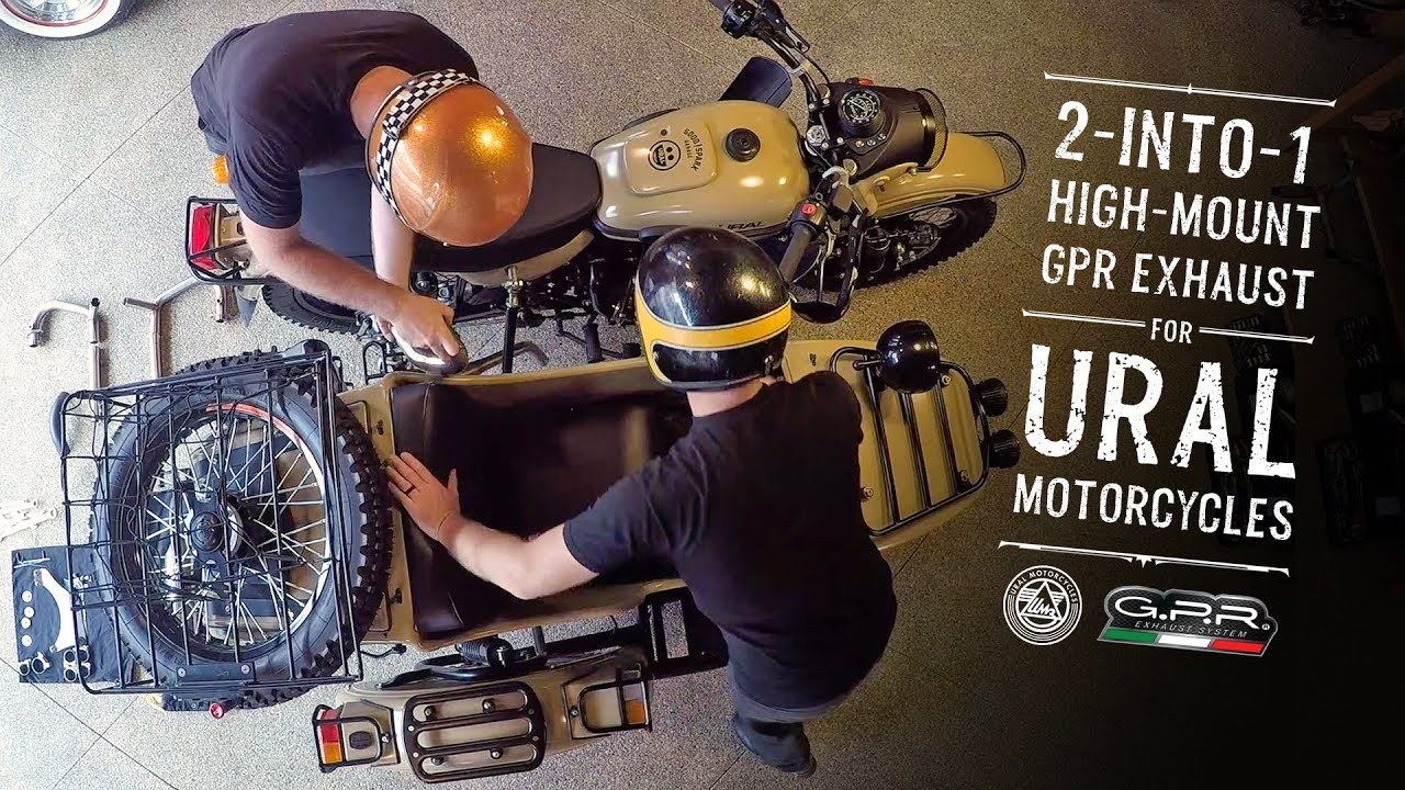 2-into-1 GPR Exhaust System for Ural Motorcycles
