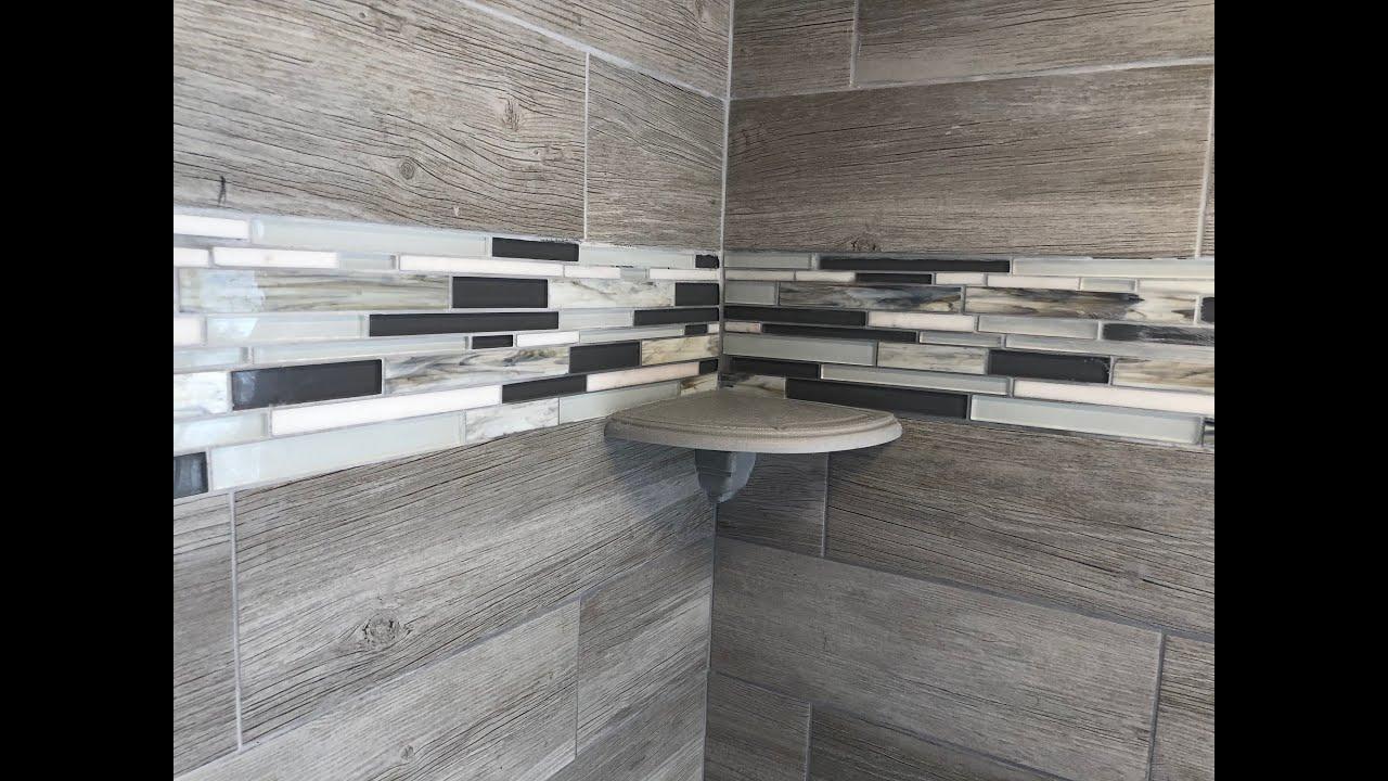 How to Install a Bathroom Shower Corner Shelf on a tile ...