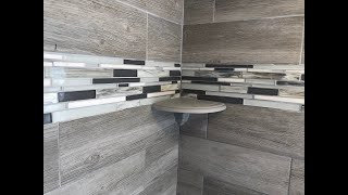 How to Install a Shower Corner Shelf on a tile wall