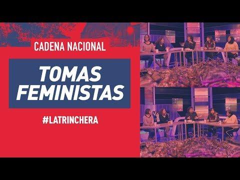 Las líderes de las tomas feministas en la Trinchera de Cadena Nacional