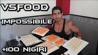 SUSHI CHALLENGE  +100 nigiri? FOIS VS FOOD