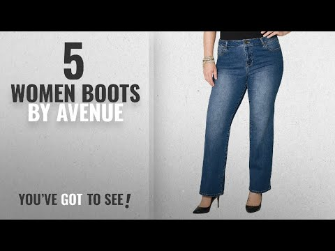 Top 10 Avenue Women Boots [2018]: AVENUE Women's Bootcut Jean in Dark Wash, 16 Dark Wash