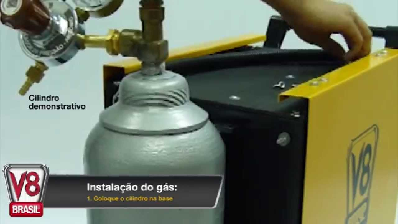 Conhe a e veja como instalar a solda mig 190 flex da v8 for Valor cilindro de gas