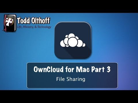 OwnCloud Server for Mac Part 3: File Sharing