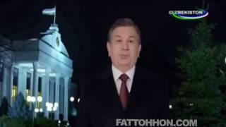 Новогоднее поздравление народу Узбекистана Президента Республики Узбекистан Шавката Мирзиёева