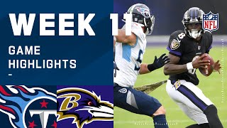 Titans vs. Ravens Week 11 Highlights | NFL 2020