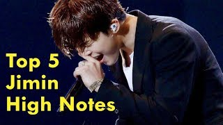 Best BTS Jimin High Notes