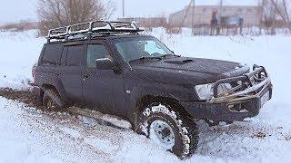 Подготовленный Nissan Patrol может? Патриоты и Нивы в теме. Грязь, сугробы Оффроад бездорожье 2018
