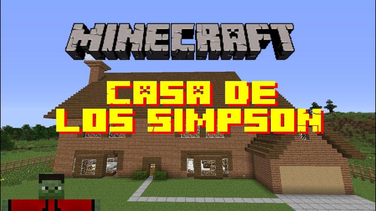 Minecraft construcciones casa de los simpson