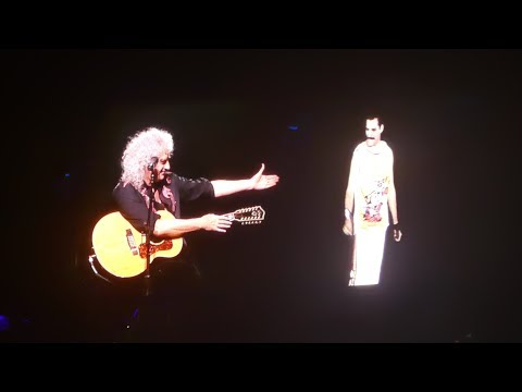 Queen- Brian May with Freddie Mercury -  Love of My Life -  Birmingham