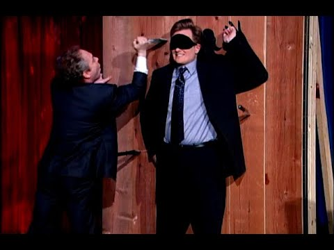 Download Conan Throws Knives With Penn & Teller   Late Night with Conan O'Brien