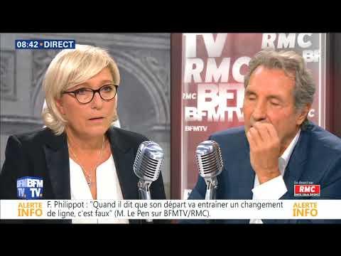 BOURDIN DIRECT du 22/09/2017, Marine LE PEN