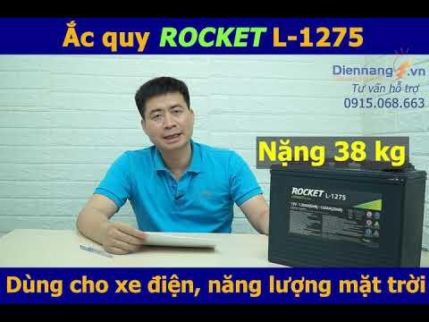 ẮC QUY ROCKET L-1275 (12v 150ah) Dùng cho xe điện, xe golf và Năng lượng mặt trời.