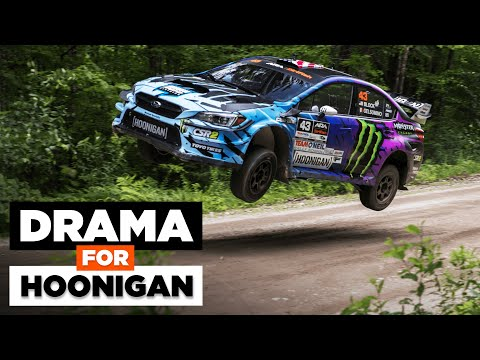 HUGE DRAMA for Hoonigan at New England Forest Rally 2021