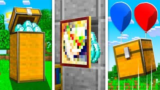 12 STORAGE BUILD HACKS That Only PRO PLAYERS Know in Minecraft!