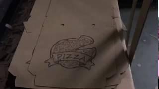Изготовление коробки для пиццы