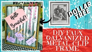 DIY DOLLAR TREE GALVANIZED METAL CLIP FRAME | How To Make A Rustic Corrugated Frame In Any Size!