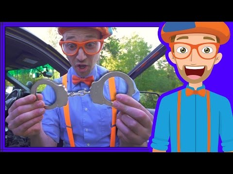 Thumbnail: Police Cars for Children with Blippi | Educational Videos for Kids