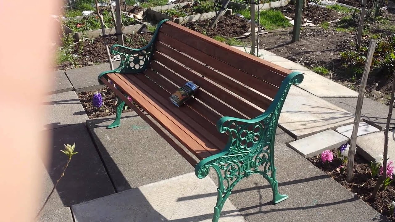 Edwardian Garden Bench And Veolia Removed
