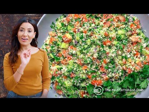 Mediterranean Cauliflower Salad (Gluten-free Tabouli)