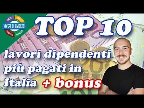 TOP 10 Lavori più pagati in Italia per cominciare come dipendente   BONUS