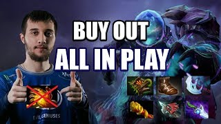 Dota 2: Arteezy - No Midas All In Push Strat | Outdrafted and Dodged by Bulba