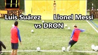 Lionel Messi y Luis Suárez se enfrentan a un Dron | Fútbol Social