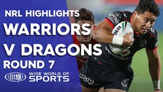 NRL Highlights: Warriors v St George Illawarra Dragons - Round 7