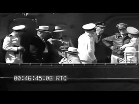 FDR & Party Visit Hickam Field & AIEA Naval Hospital, Hawaii, 07/30/1944 (full)