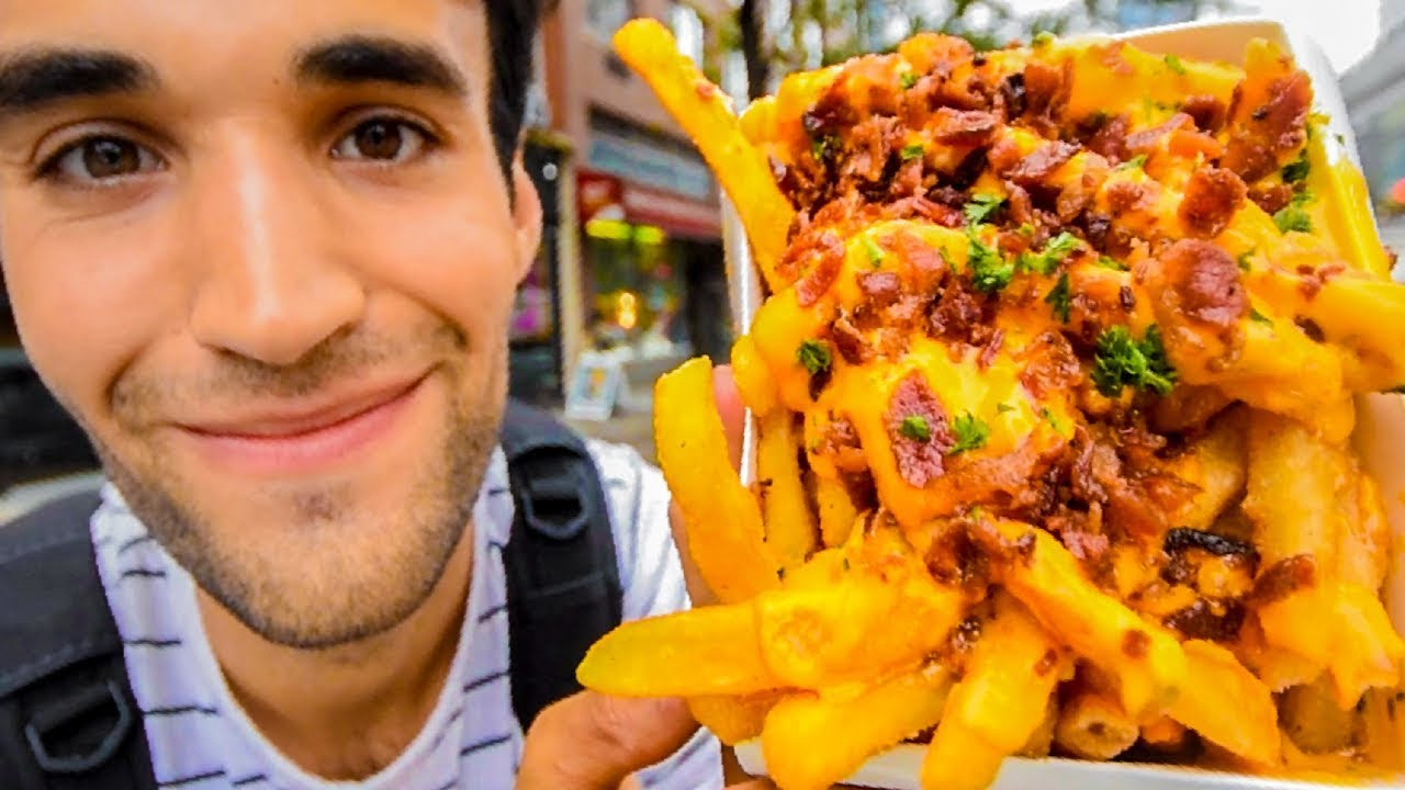 LIVING on FRIES for 24 HOURS in NYC!