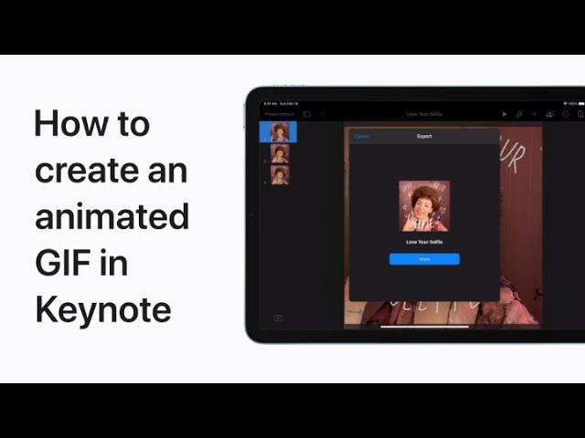 Vidéo Apple: comment créer un GIF animé avec Keynote sur iOS