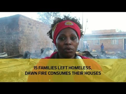 15 families left homeless, dawn fire consumes their houses