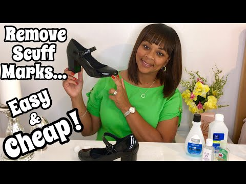 How To Remove Scuff Marks From Patent Leather Shoes !!! 👠