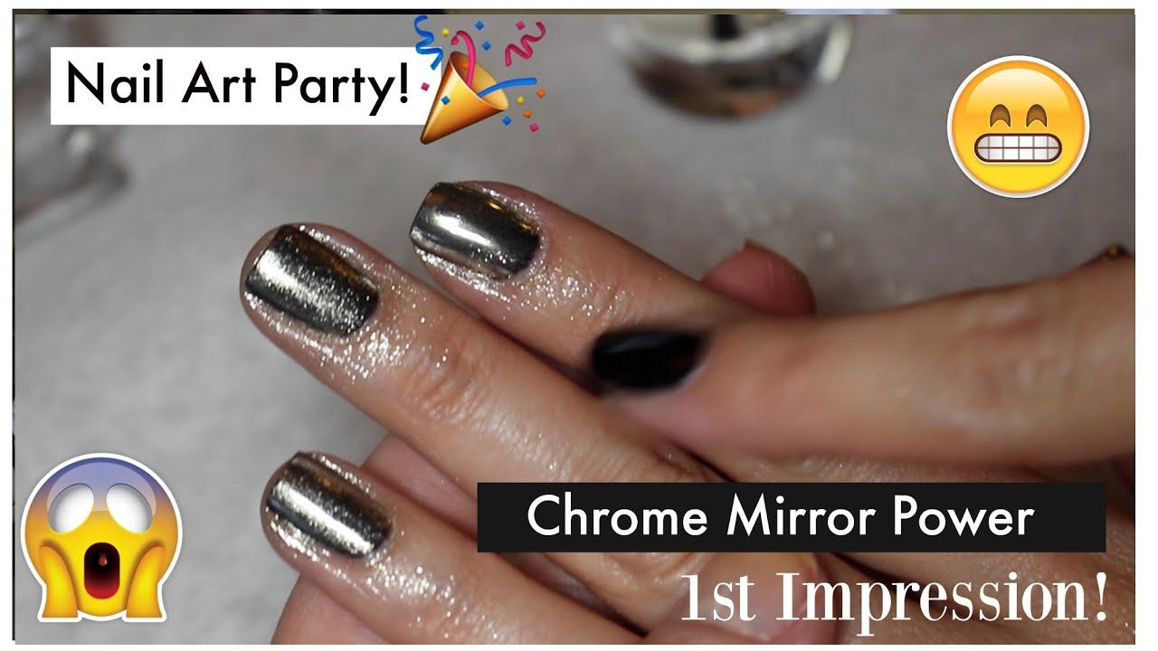 Nail Art Party - 1st Impression Chrome Mirror Metallic Powder + Top ...