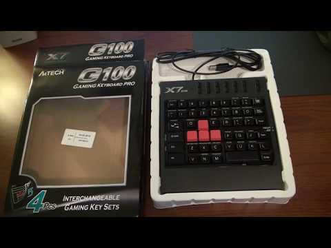 Клавиатура проводная A4Tech X7 G100 USB (4711421708104)