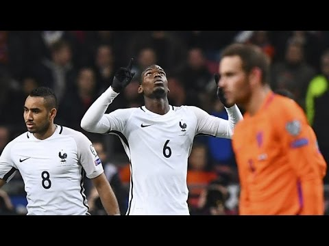 Pogba  Amazing Goal - France vs Netherlands 1-0  World Cup Qualifiers 2018 (10/10/2016) HD