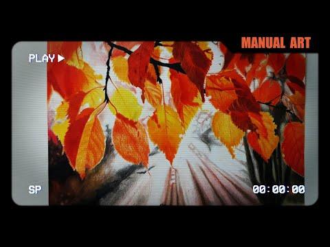 Desenhando Folhas de Outono -  [Speed art Realista]